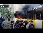 شاهد لقطات جديدة لحرق مقر الحزب الديمقراطي الكردستاني وسط بغداد