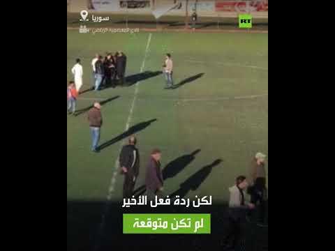 شاهد حكم مباراة يتلقى صفعة لصافرته النهائية