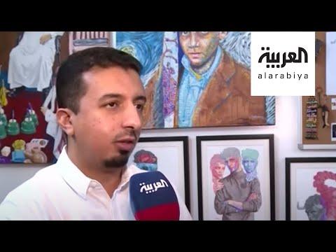 شاهد فنان سعودي يبتكر أسلوبًا جديدًا بالرسم بالدوائر