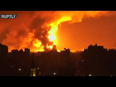 شاهد غارات جوية إسرائيلية تستهدف مواقع لـحماس في غزة