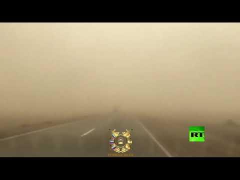 شاهد عاصفة ترابية تجتاح الجنوب الروسي وتُعرقل حركة المرور
