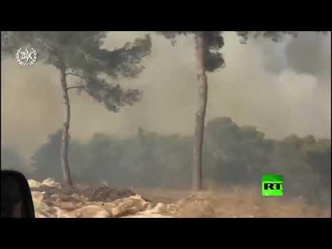 شاهد حرائق ضخمة في إسرائيل تُجبر الآلاف على النزوح
