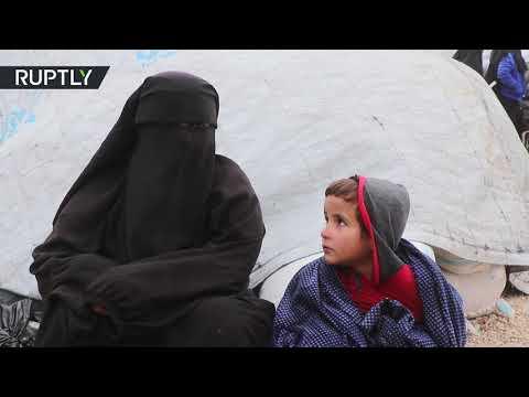 شاهد قوات سورية الديمقراطية تُفرج عن 120 عائلة محتجزة في مخيم الهول