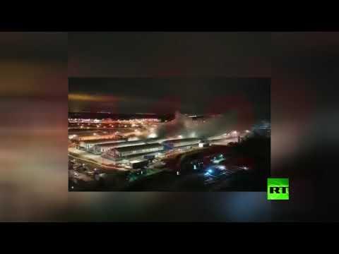 شاهد انفجار في أنبوب أكسجين داخل مستشفى لمصابي كورونا في روسيا