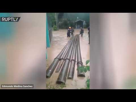 شاهدالفيضانات تجتاح نيكاراغوا بعد إعصار جديد ضرب البلاد