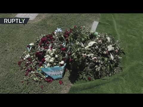 شاهد مشاهد جوية للمقبرة التي دفن فيها مارادونا
