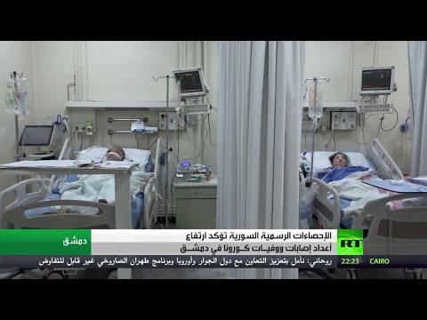 شاهد ارتفاع عدد إصابات ووفيات فيروس كورونا في العاصمة السورية دمشق