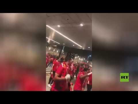 استقبال جماهيري أسطوري لبعثة الأهلي المصري في الدوحة