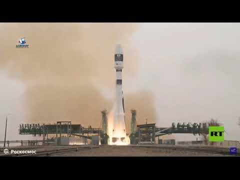شاهد لقطات تظهر إطلاق صاروخ سويوز الروسي